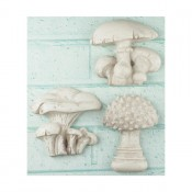 Shabby Chic Resin Treasures - Mushrooms