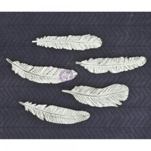 Shabby Chic Resin Treasures - Feathers