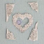 Shabby Chic Resin Treasures - Flower Heart