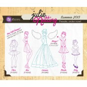 (Pre-order) Mixed Media Doll Stamp Set #2