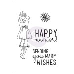 Mixed Media Doll Cling Stamp Set - Warm Wishes