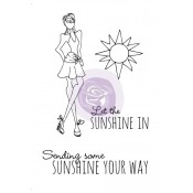 Mixed Media Doll Cling Stamp - Sunshine