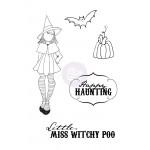 Mixed Media Doll Cling Stamp - Witchy Poo