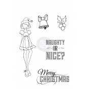 Mixed Media Doll Cling Stamp - Merry Nice