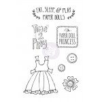 Mixed Media Doll Cling Stamp - Play Time