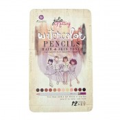 (Pre-Order) Mixed Media Watercolor Pencils 12/Pkg - Julie Nutting Hair & Skin Tones