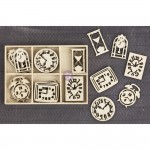 Laser Cut Wood Icons In A Box - Clocks