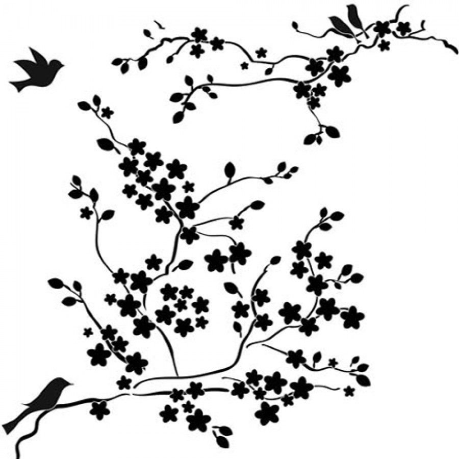 templates - mini cherry blossoms - 6x6