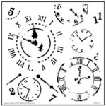 Doodling Templates - Mini Time Travel - 6x6