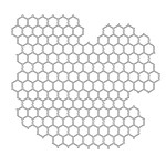 Doodling Templates - Mini Chicken Wire - 6x6