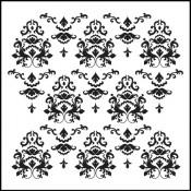 Doodling Templates - Mini Damask - 6x6