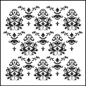 Doodling Templates - Mini Damask - 6x6