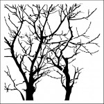Doodling Templates - Mini Branches Reversed - 6x6