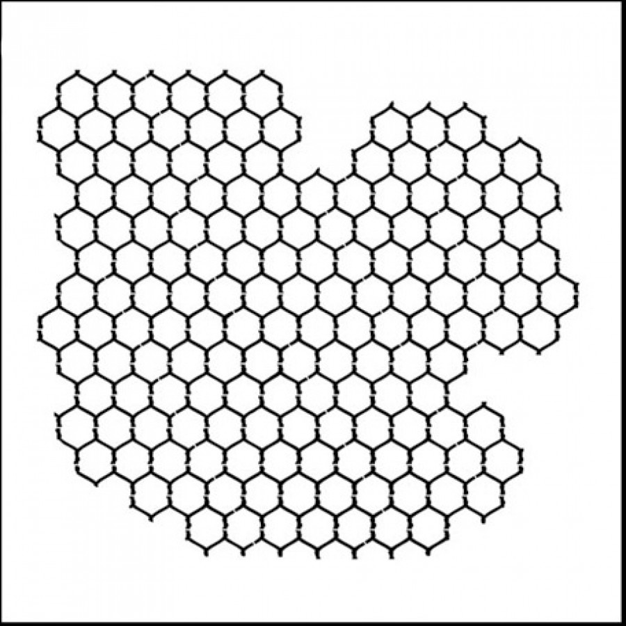 Doodling Templates - Mini Chicken Wire Reversed - 6x6