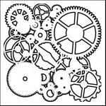 Doodling Templates - Mini Gears - 6x6