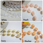 Sm Dbl Sided Flower Pearl Trim - 1yd