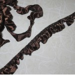 Ruffled Satin Trim - 1yd