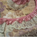 "1 3/4"" Ruffled Satin n' Lilly Lace - 1yd"