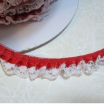 "3/4"" Ruffled Satin n' Lace - 1yd"