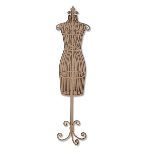 Chipboard Embellishments - Dress Form