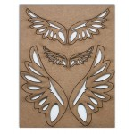 Chipboard Embellishments - Angel Wings
