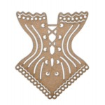 Chipboard Embellishments - Corset - Fancy