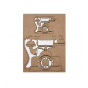 Chipboard Embellishments - Vintage Phone