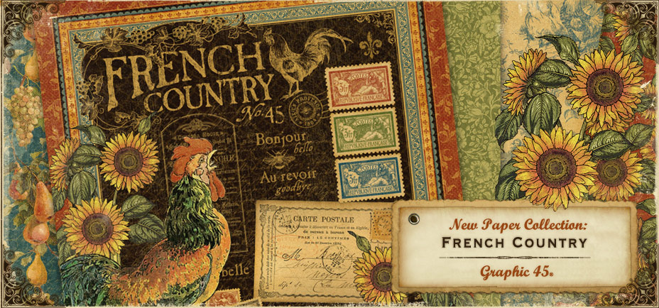Graphic 45 for French country collection